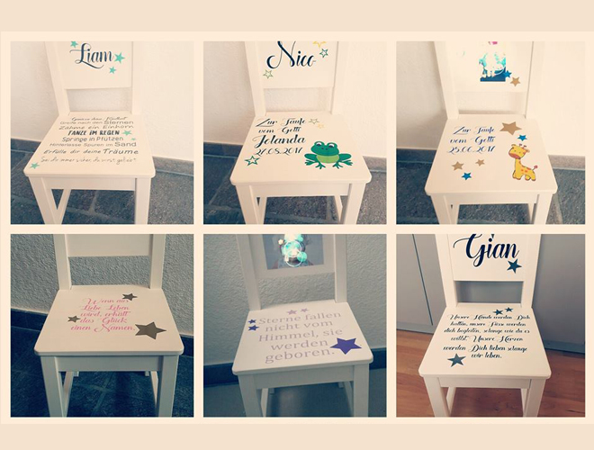 Kinderstuhl mit namen wohn design - Kinderstuhl design ...